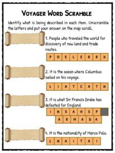 Famous Explorer Facts, Worksheets & Historical Information For Kids