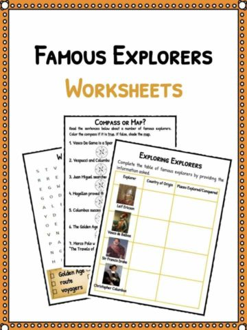 Famous Explorer Facts Worksheets