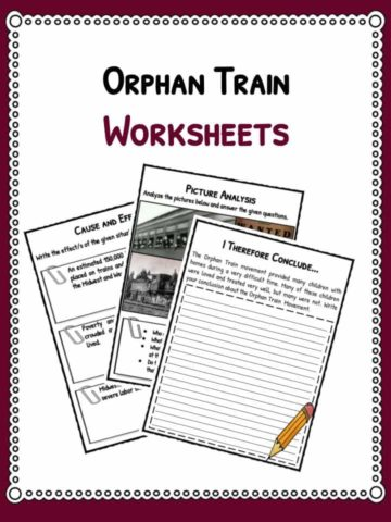 orphan train worksheets