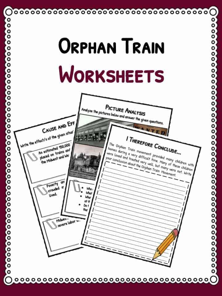 orphan train worksheets
