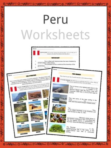 Peru Worksheets