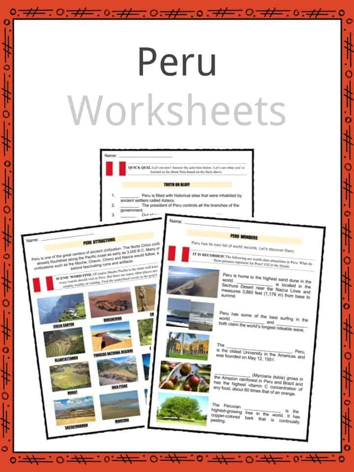 Peru Worksheets