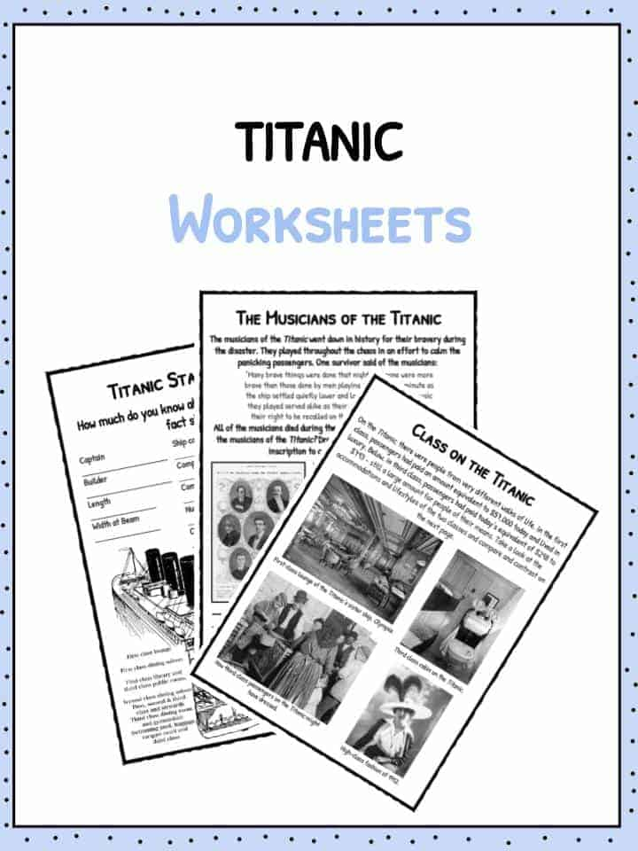 Titanic Facts Titanic Worksheets – Titanic Worksheets