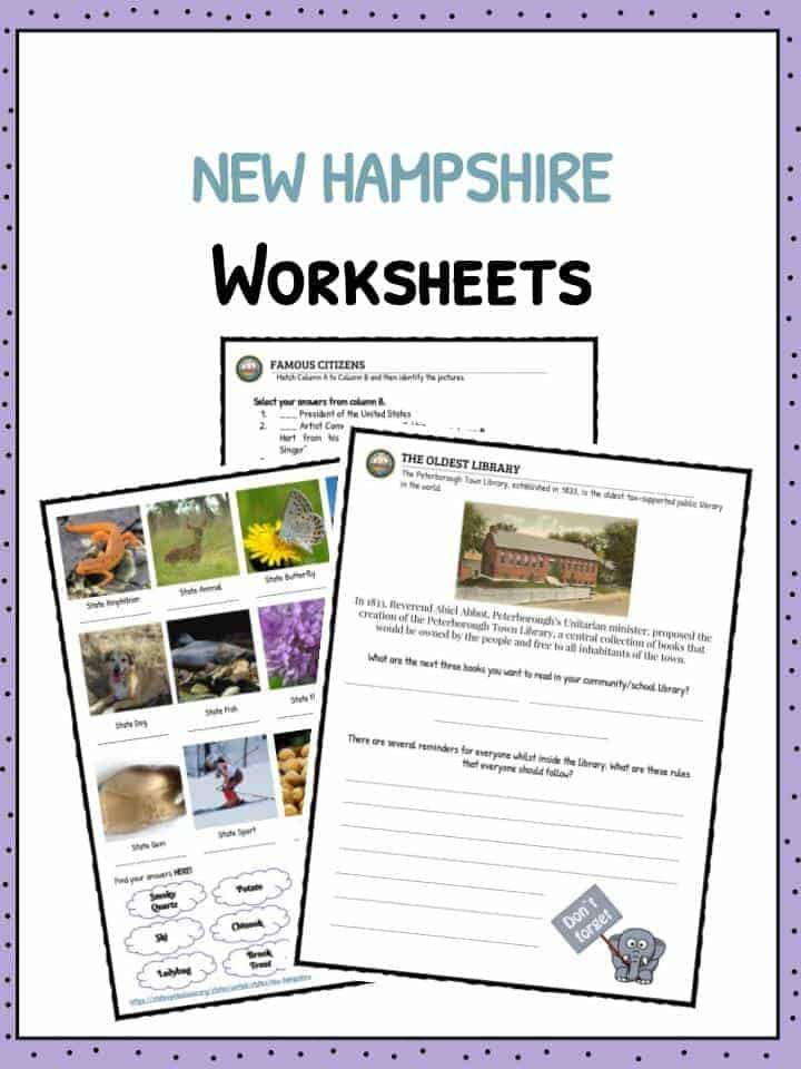 New Hampshire Facts & Worksheets