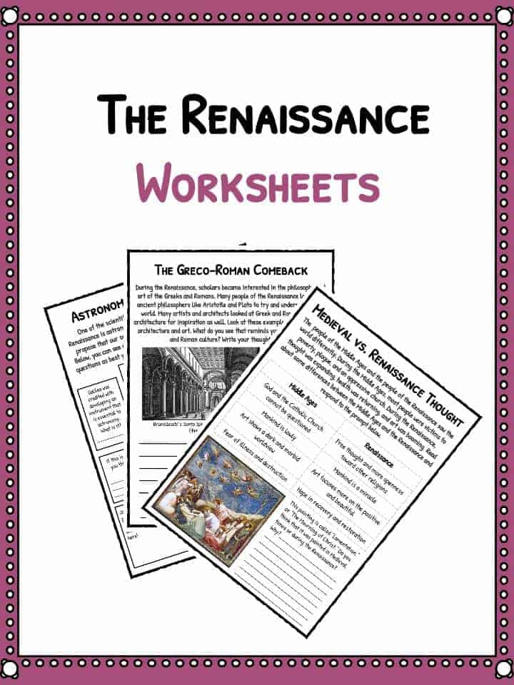 The Renaissance Period Facts Information Worksheets – Renaissance Worksheets