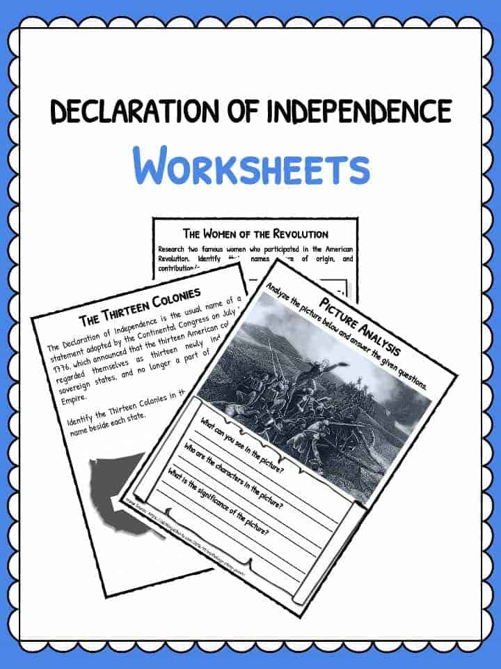 Declaration of Independence Facts Worksheets – Declaration of Independence Worksheets