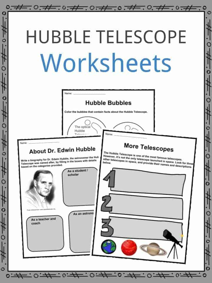 Hubble Telescope Worksheets