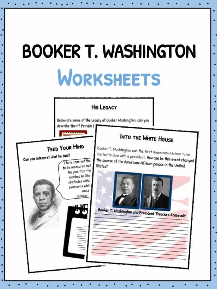 Booker T Washington Facts Biography Worksheets For Kids – Child Support Worksheet Washington