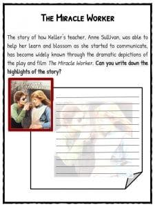 Helen Keller Worksheets, Facts & Information For Kids
