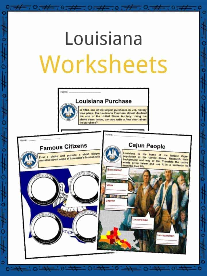 Louisiana Facts, Worksheets & State Historical Information For Kids