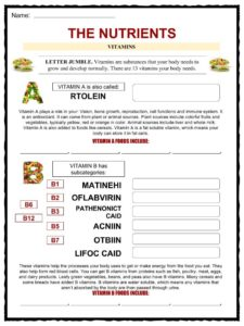 Nutrition Facts, Worksheets & Key Information For Kids