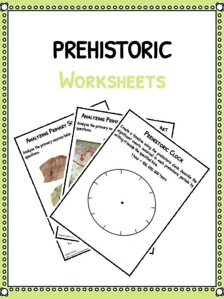 Prehistoric Worksheets Facts History Information For Kids – Reference Sources Worksheets