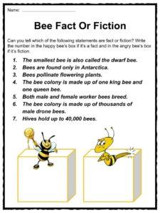 bee facts worksheets habitat life span information for kids. Black Bedroom Furniture Sets. Home Design Ideas