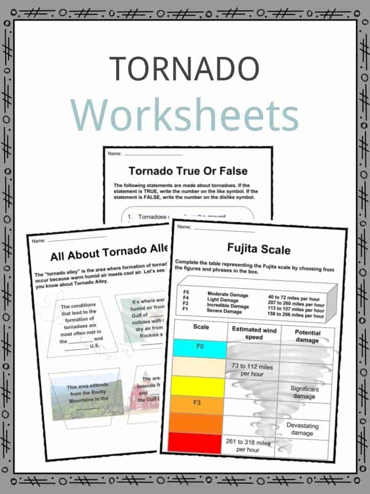 Tornado Facts, Worksheets, Information & Key History For Kids