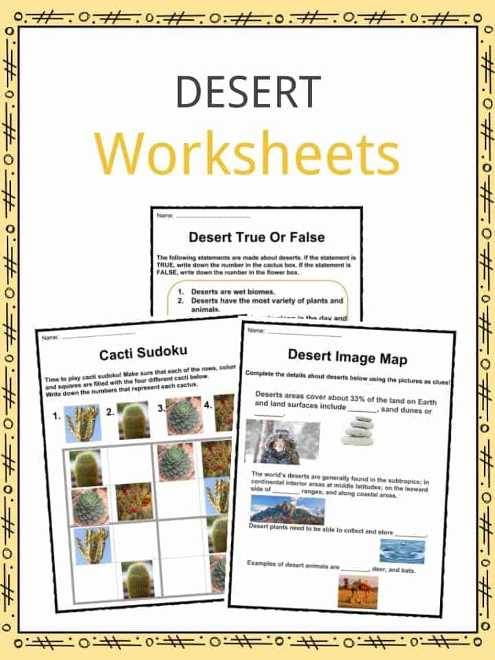 Desert Worksheets