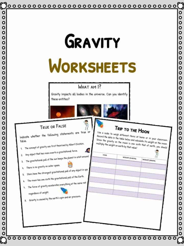 gravity facts worksheets for kids forces of the universe pdf. Black Bedroom Furniture Sets. Home Design Ideas