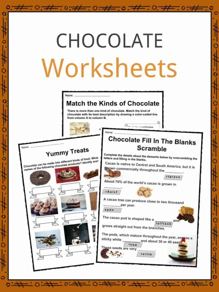 Chocolate Worksheets