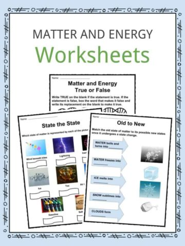 Related Resources Matter And Energy Facts Worksheets