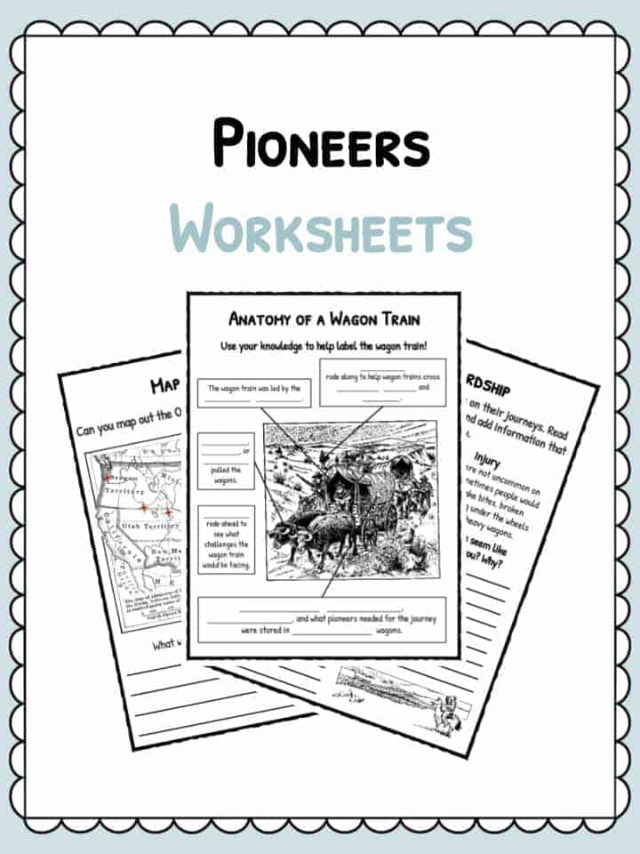 Pioneer Facts, Information & Worksheets | PDF Classroom Worksheet