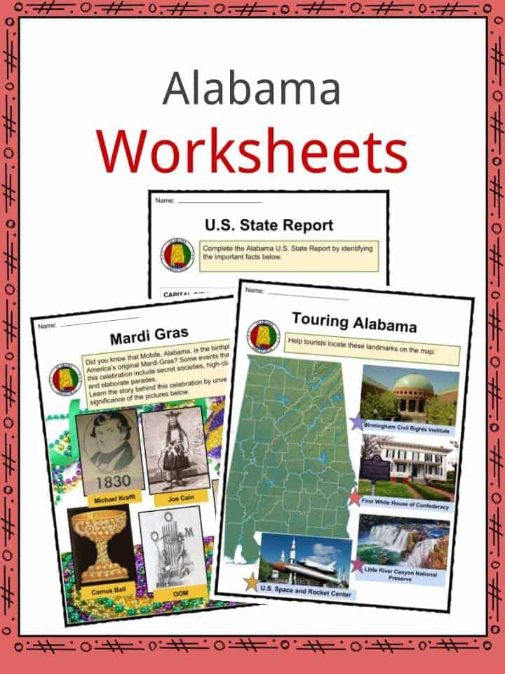 Alabama Worksheets