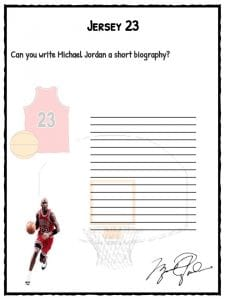 michael facts biography information worksheets for kids jersey 23