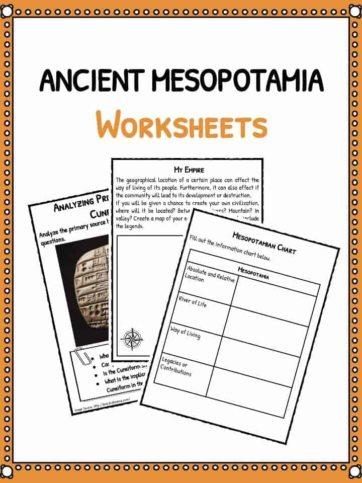 Ancient Mesopotamia Facts Worksheets – Graphic Sources Worksheets