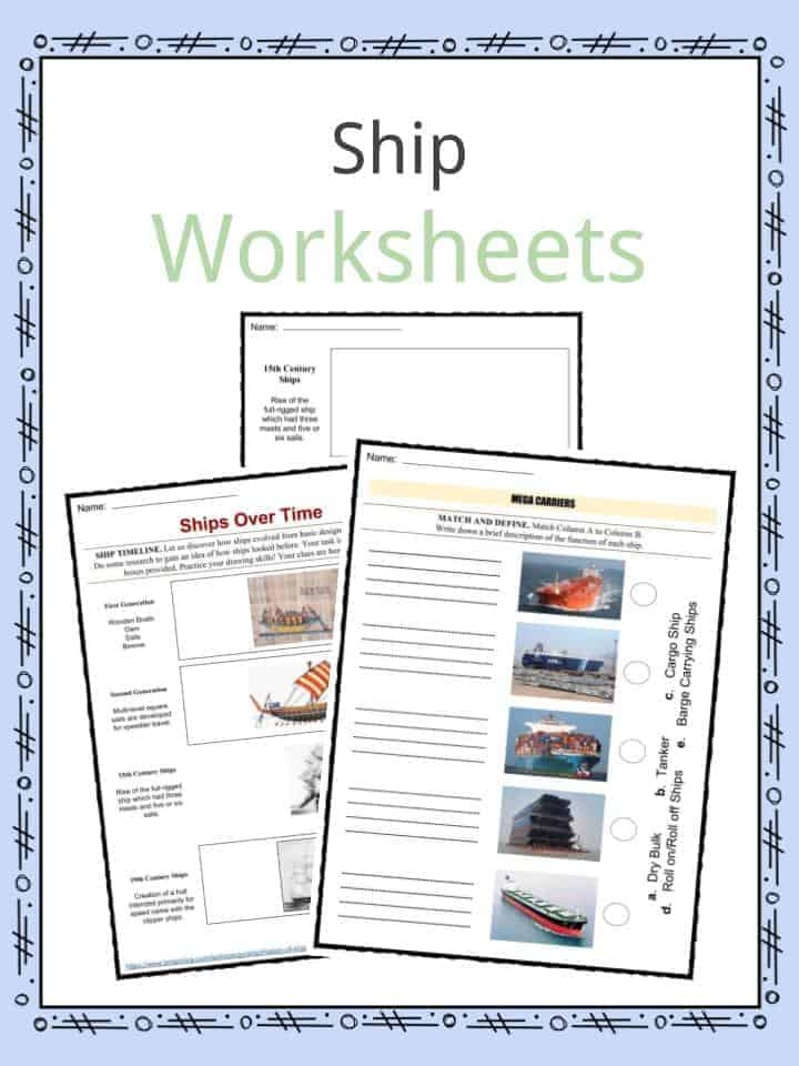 Ship Worksheets