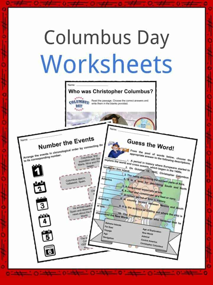 Printable Worksheets free columbus day worksheets : Columbus Day Facts, Worksheets & Historical Significance For Kids