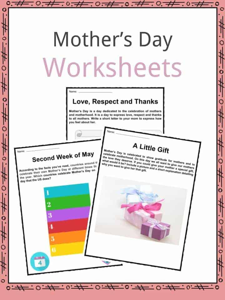 mother 39 s day facts worksheets time of year for kids. Black Bedroom Furniture Sets. Home Design Ideas