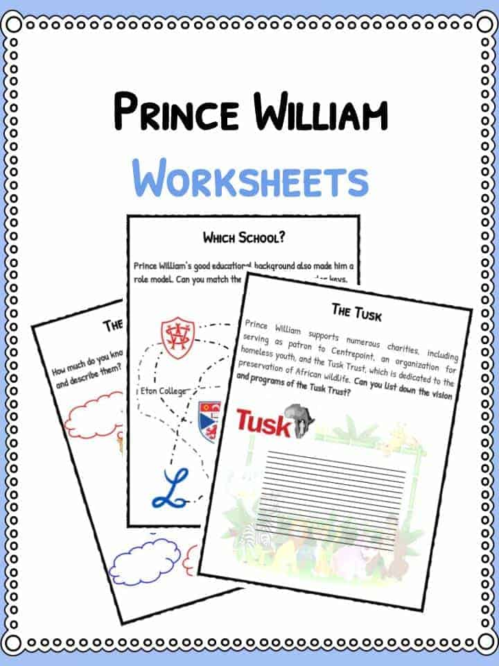 Prince William Worksheets