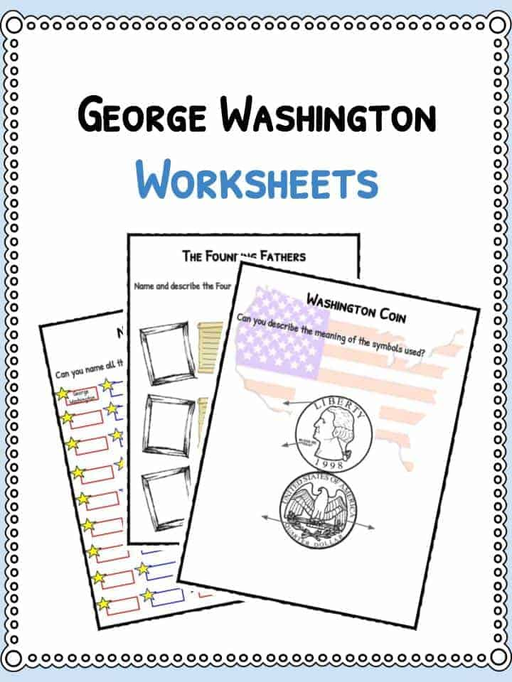 George Washington Facts Biography Information Worksheets For Kids – George Washington Worksheet