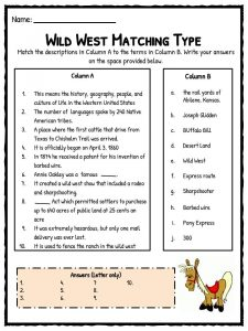 old wild west facts information worksheets school study resources. Black Bedroom Furniture Sets. Home Design Ideas
