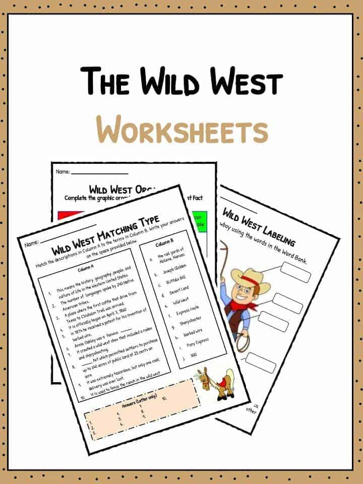 Old Wild West Facts Information Worksheets School Study