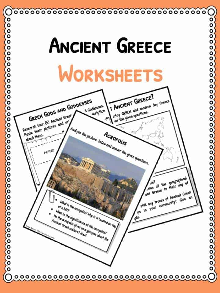 Ancient Greece Worksheets Facts Information For Kids – Ancient Greece Worksheets