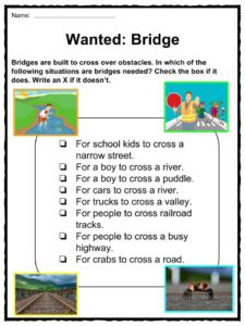 How Do Suspension Bridges Worksheets