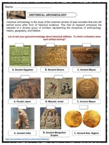 Archaeology Facts, Worksheets & Information For Kids
