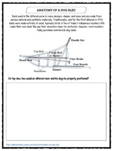 the iditarod 2018 facts worksheets historical information for kids. Black Bedroom Furniture Sets. Home Design Ideas