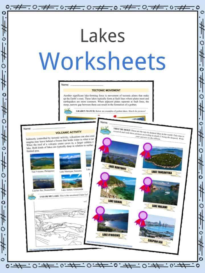Lakes Worksheets