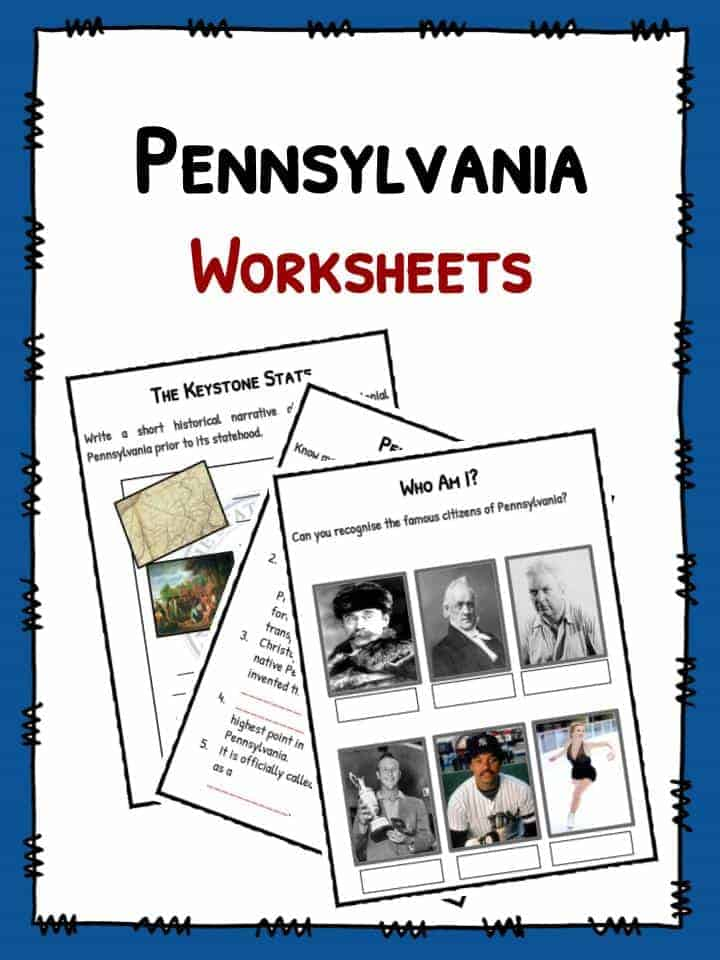 Worksheets For Pennsylvania : Us state facts and information for kids kidskonnect
