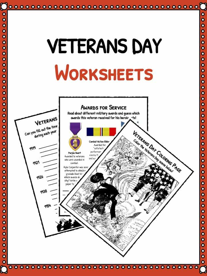 Veterans Day Facts and Worksheets – Veterans Day Math Worksheets