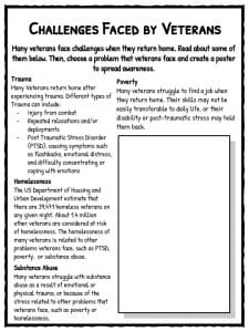 Veterans' Day Facts, Worksheets & Historical Information For Kids