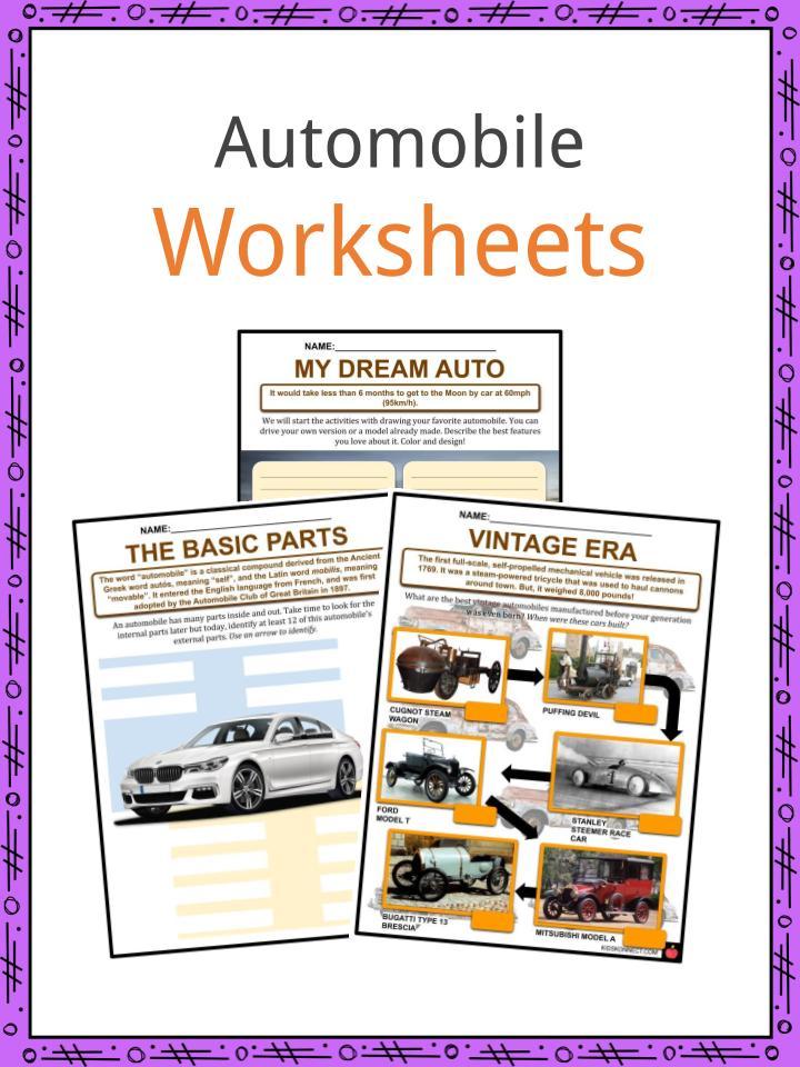 Automobile Worksheets