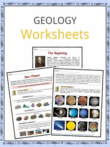Geology Worksheets