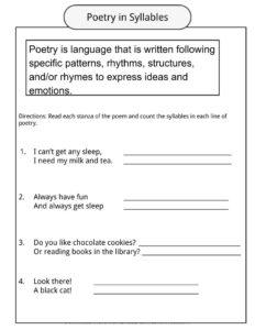 poetry worksheets definition examples for kids. Black Bedroom Furniture Sets. Home Design Ideas