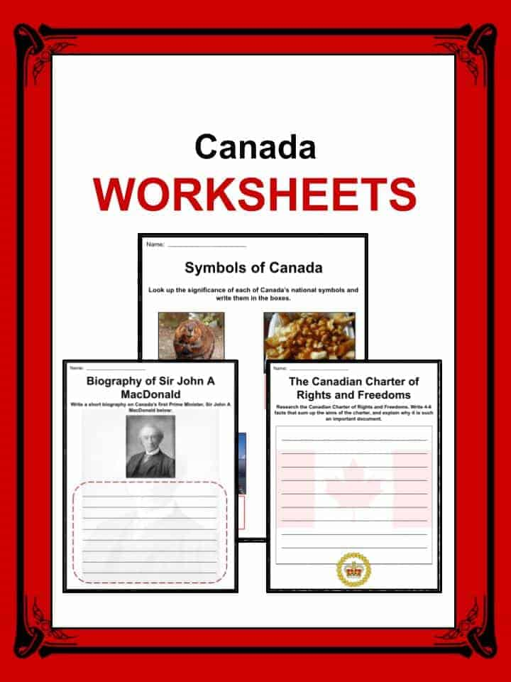 Canada Facts Worksheets Country History For Kids – Canada Worksheets