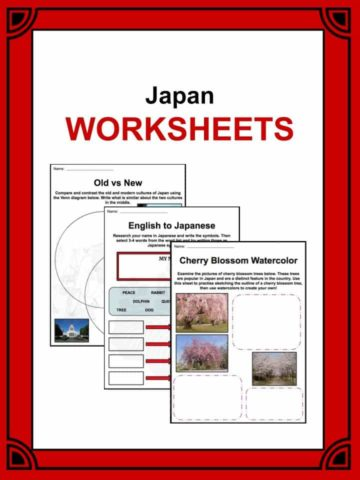 Japan Worksheets