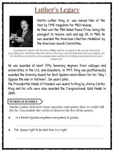 Martin luther king jr facts worksheets for kids study material luthers legacy ibookread PDF