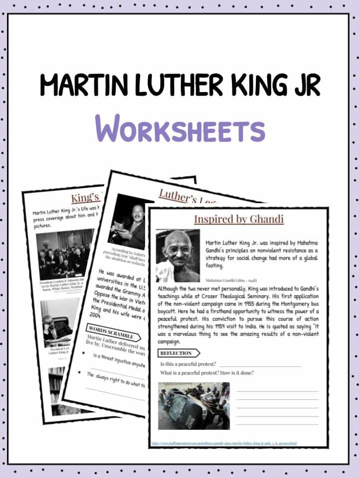 Martin Luther King Jr Facts Worksheets For Kids – Martin Luther King Jr Worksheet
