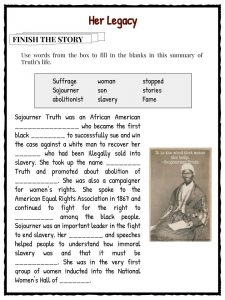 coloring pages for sojourner truth - photo#44