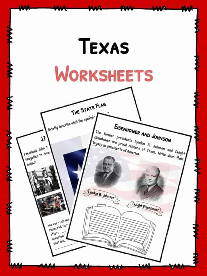 State Of Texas Facts Worksheets Historical Information For Kids – Texas History Worksheets